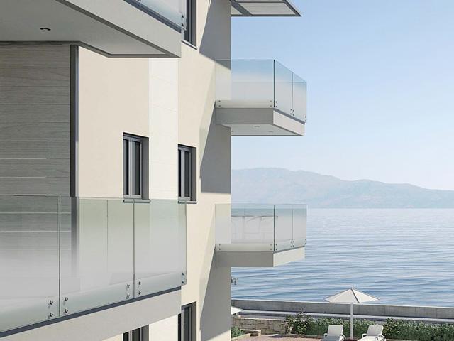 Glass railings