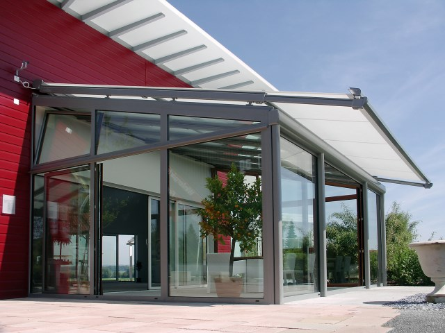 Conservatory Awning with telescopic guide rails Targa Plus