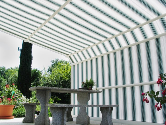 Conservatory Awning with guide rails Arcada