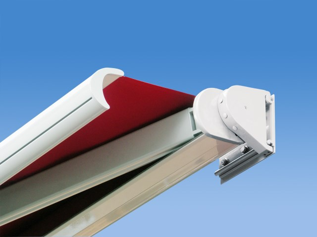 Box awnings Mesabox with telescopic arms