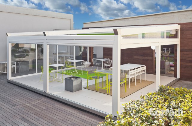 Retractable pergola Pergotenda® B-Space