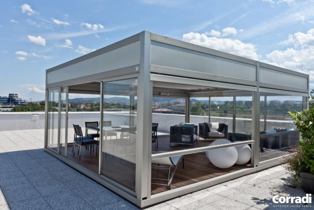 Retractable pergola Pergotenda® Kubo