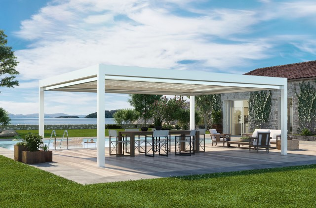 Retractable pergola Pergotenda® Maestro
