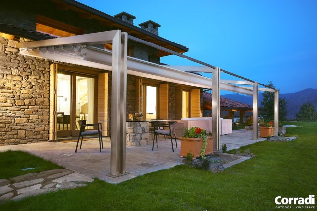 Retractable pergola Pergotenda® Millenium