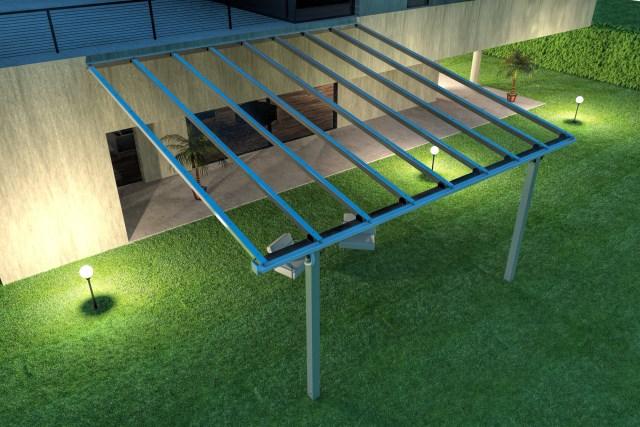Fixed pergola Veranda Flat