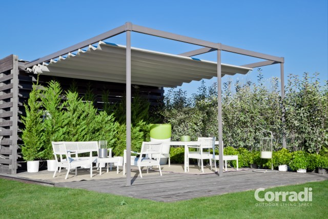 Retractable pergola Pergotenda® Exyl