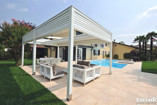Retractable pergola Pergotenda® 100