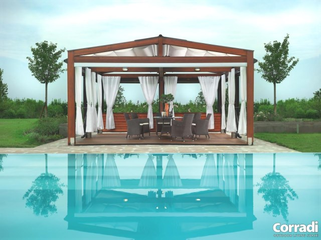 Retractable pergola Pergotenda® 120